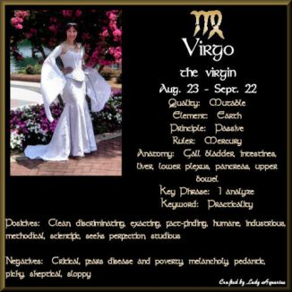 The Sun enters the sign of Virgo (the virgin) at 5:37 am CDT August 23rd.