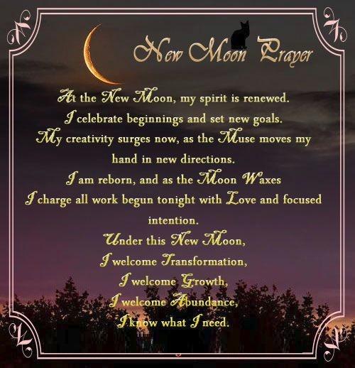 New Moon Prayer